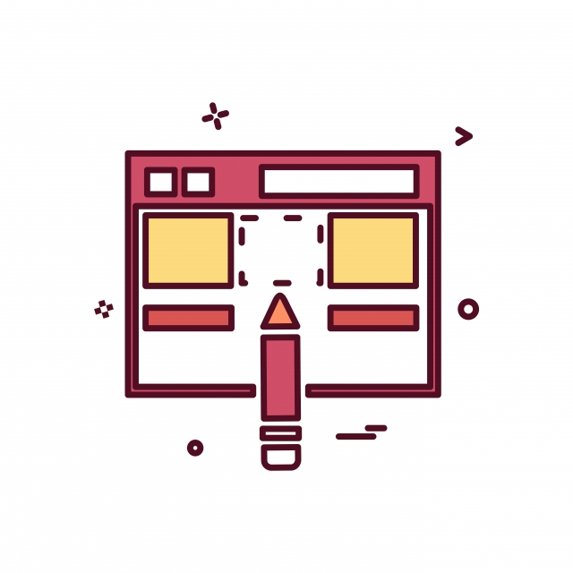 Web Layout Icon Design Vector, Layout, Web, Template PNG and.