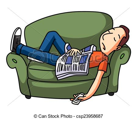 Lazy Guy Clipart.