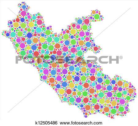 Clip Art of Decorative map of Lazio.