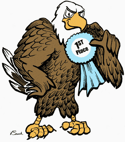 Happy eagle clipart.