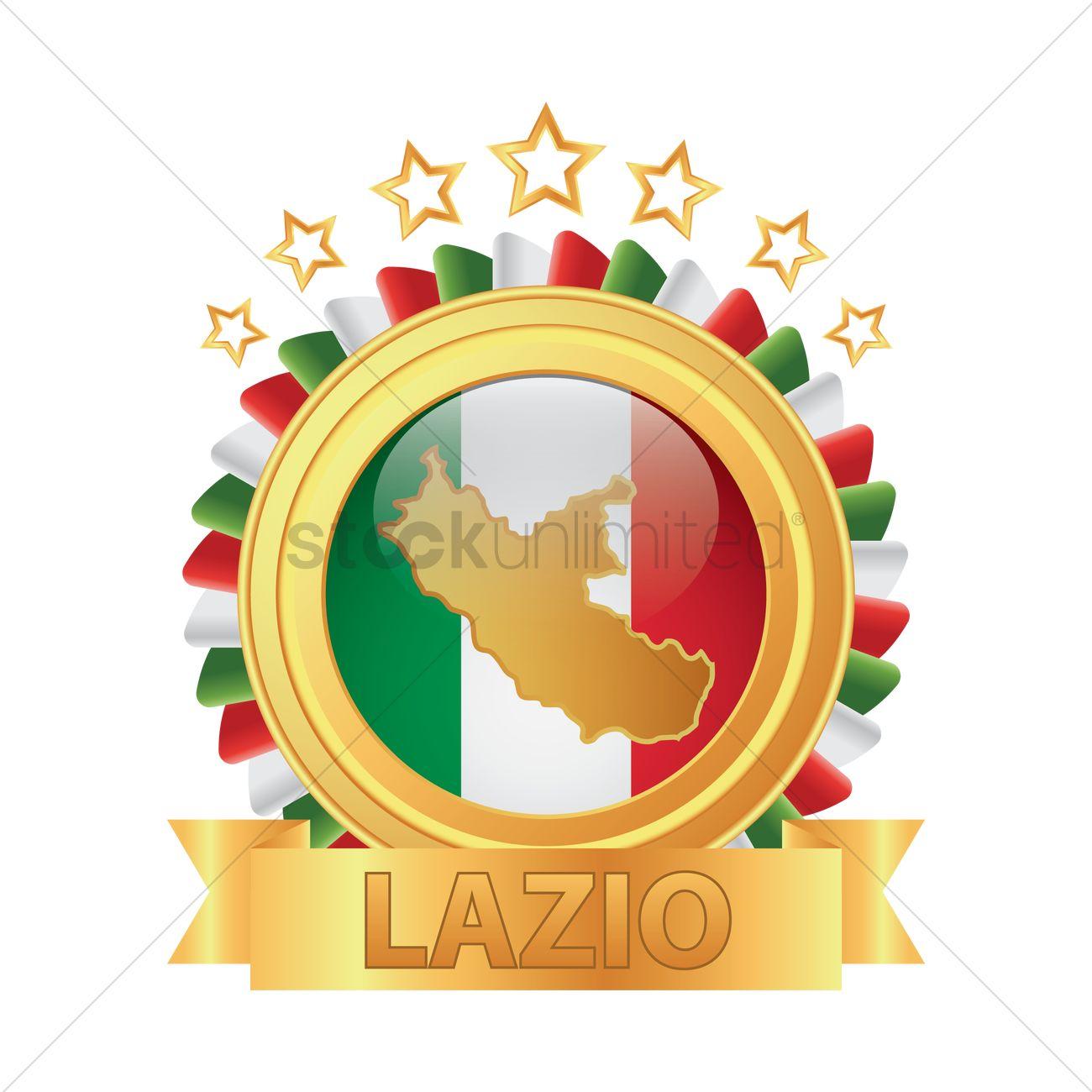 Lazio map Vector Image.
