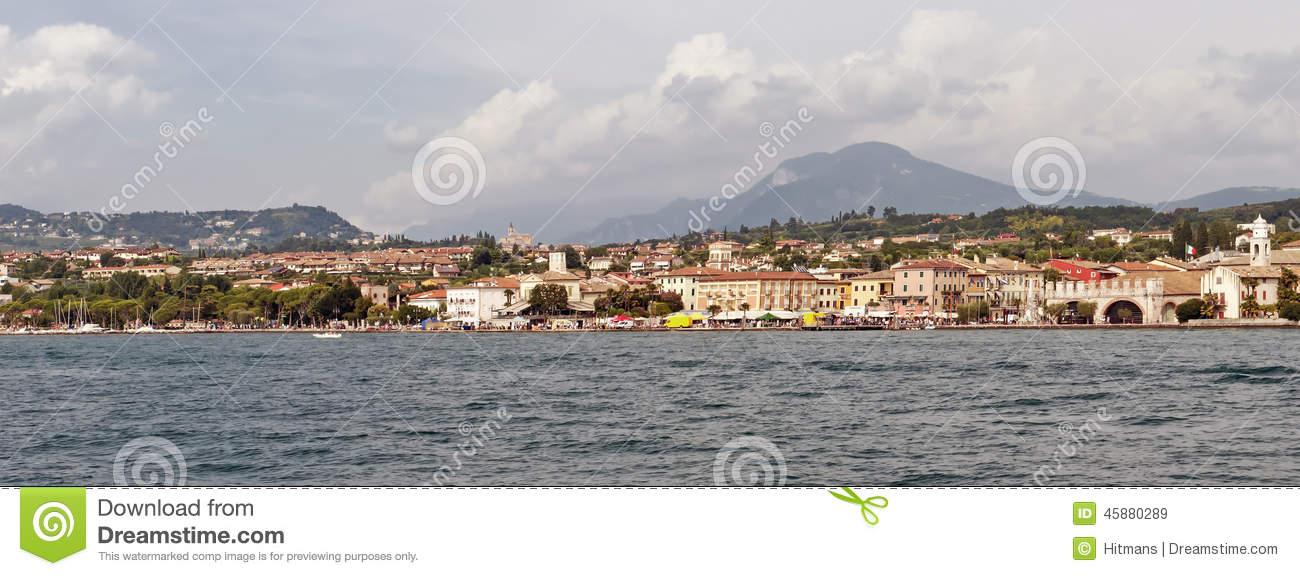 Lazise, Scaliger Castle (Castello Scaligero), Lake Garda, Veneto.