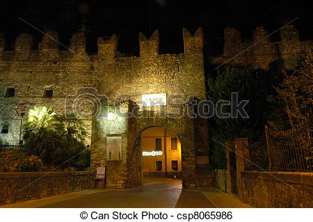 Stock Image of Fort of Lazise.
