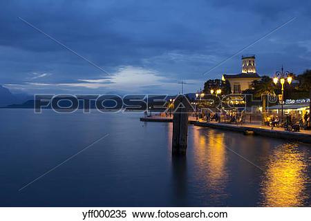 Stock Image of Italy, Veneto, Lazise, Lake Garda, Lazise.