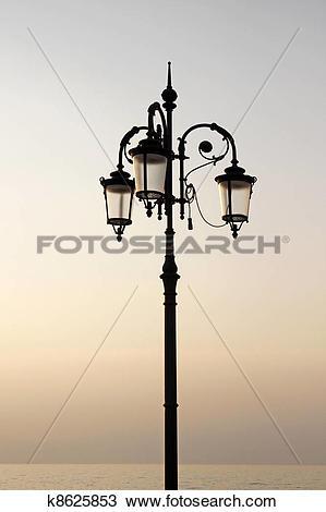 Stock Photo of Lantern in Lazise, Lake Garda k8625853.