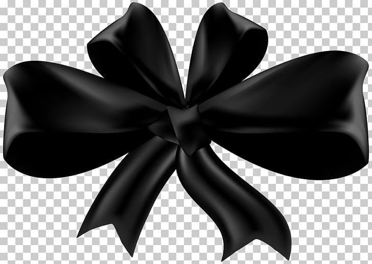 Black ribbon , black PNG clipart.