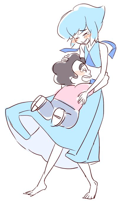 Lapis and Steven.