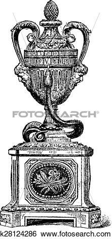 Clip Art of Pendulum lapis lazuli and gilt bronze and carved.
