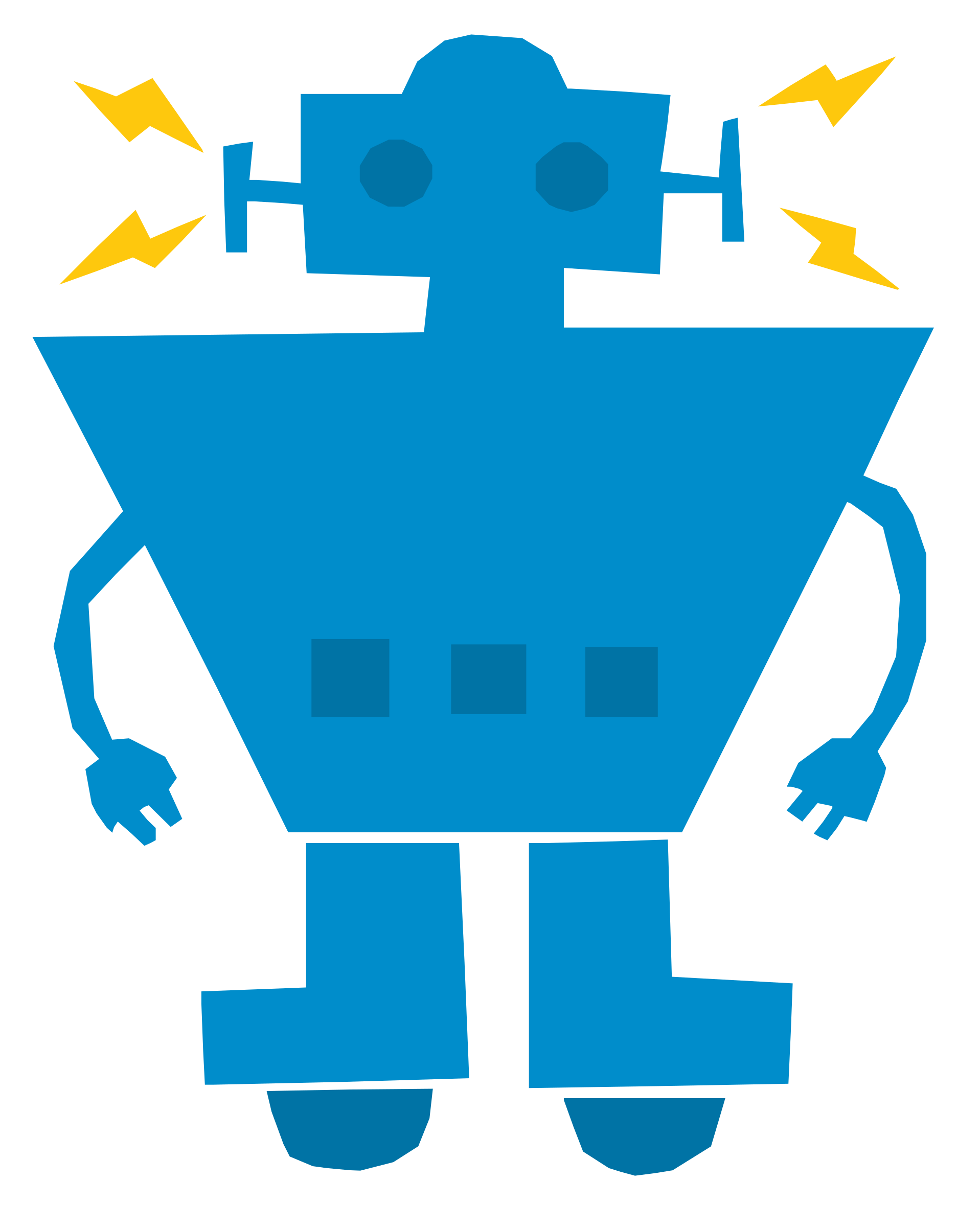 Robot Recharged Vector Clipart.