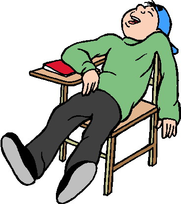 Lazy At School Clipart.
