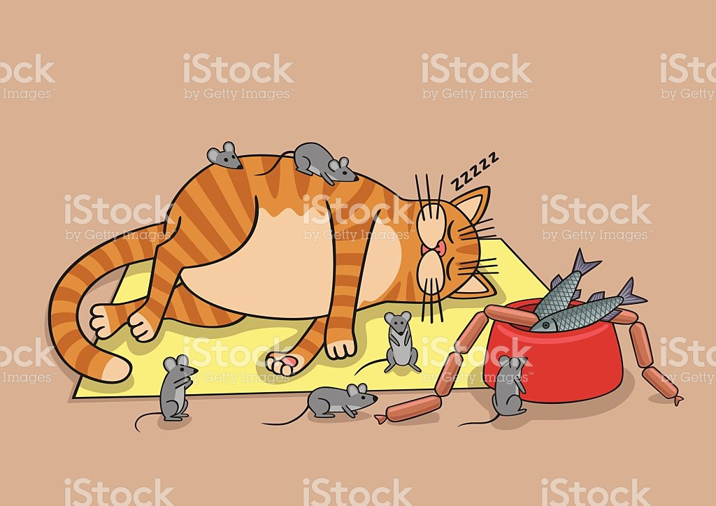 Lazy Cat stock vector art 524395969.