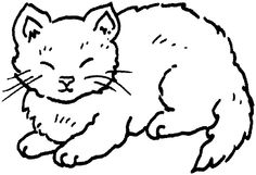 Lazy cat clipart.