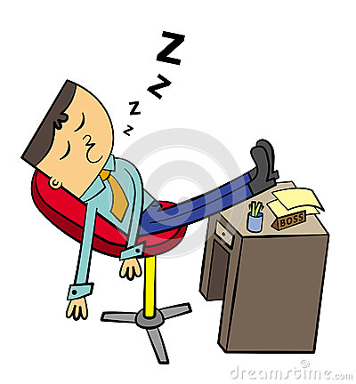 Lazy worker clipart.