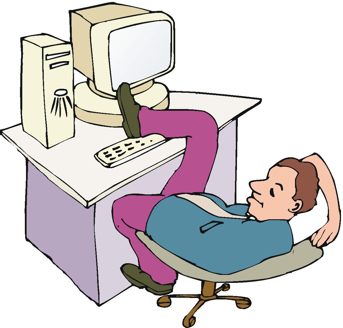 Lazy person clipart.