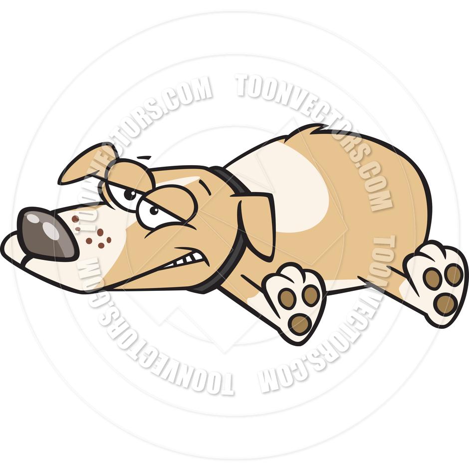 Lazy dog clipart.
