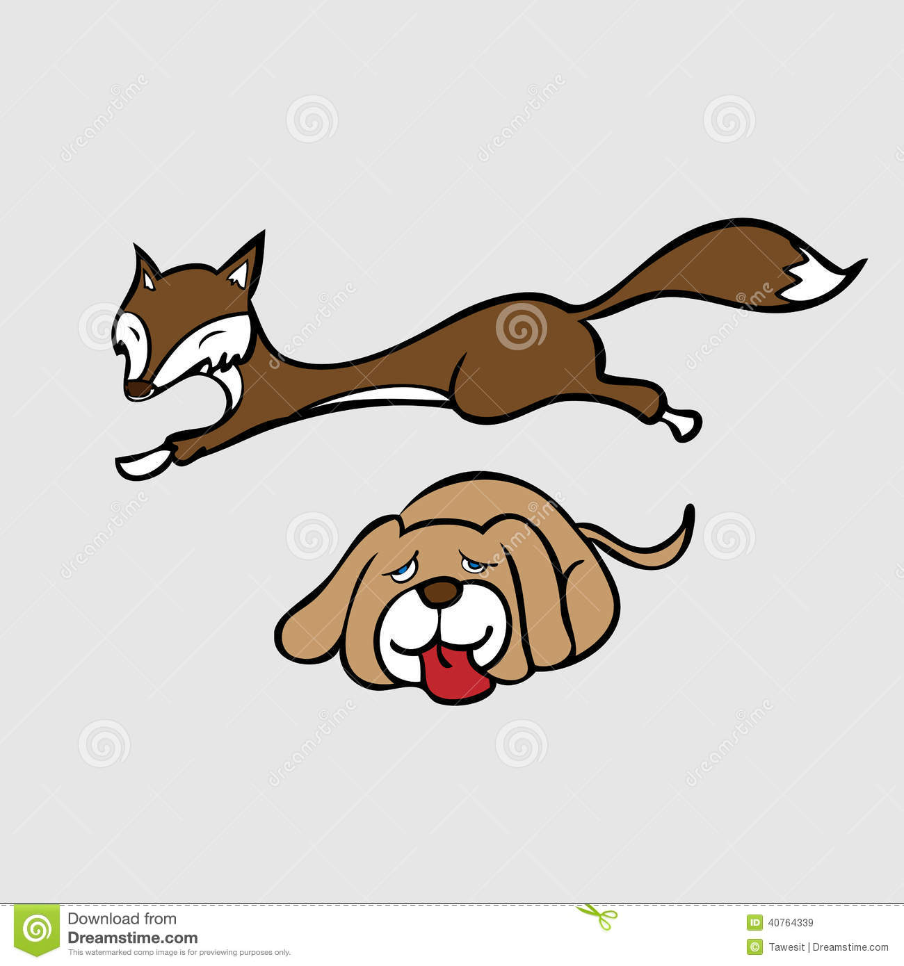 Lazy Dog Stock Illustrations.