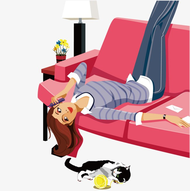 Lazy girl clipart 3 » Clipart Portal.