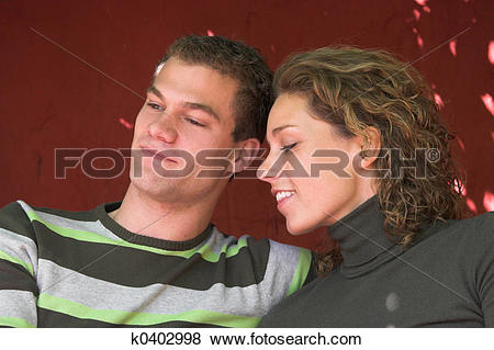 Pictures of Lovely young couple enjoying a lazy afternoon k0402998.
