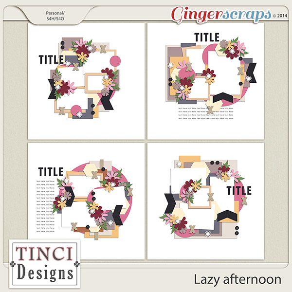 GingerScraps :: Templates :: Lazy afternoon.