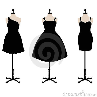 Little Black Dress Clipart.