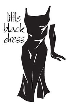 Off the shoulder little black dress clipart.