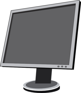 Lcd screen clipart.
