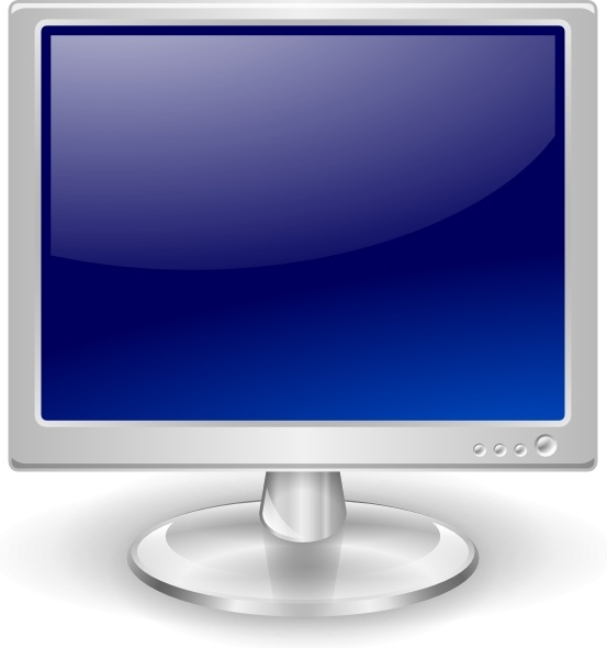 Lcd Monitor clip art Free vector in Open office drawing svg.