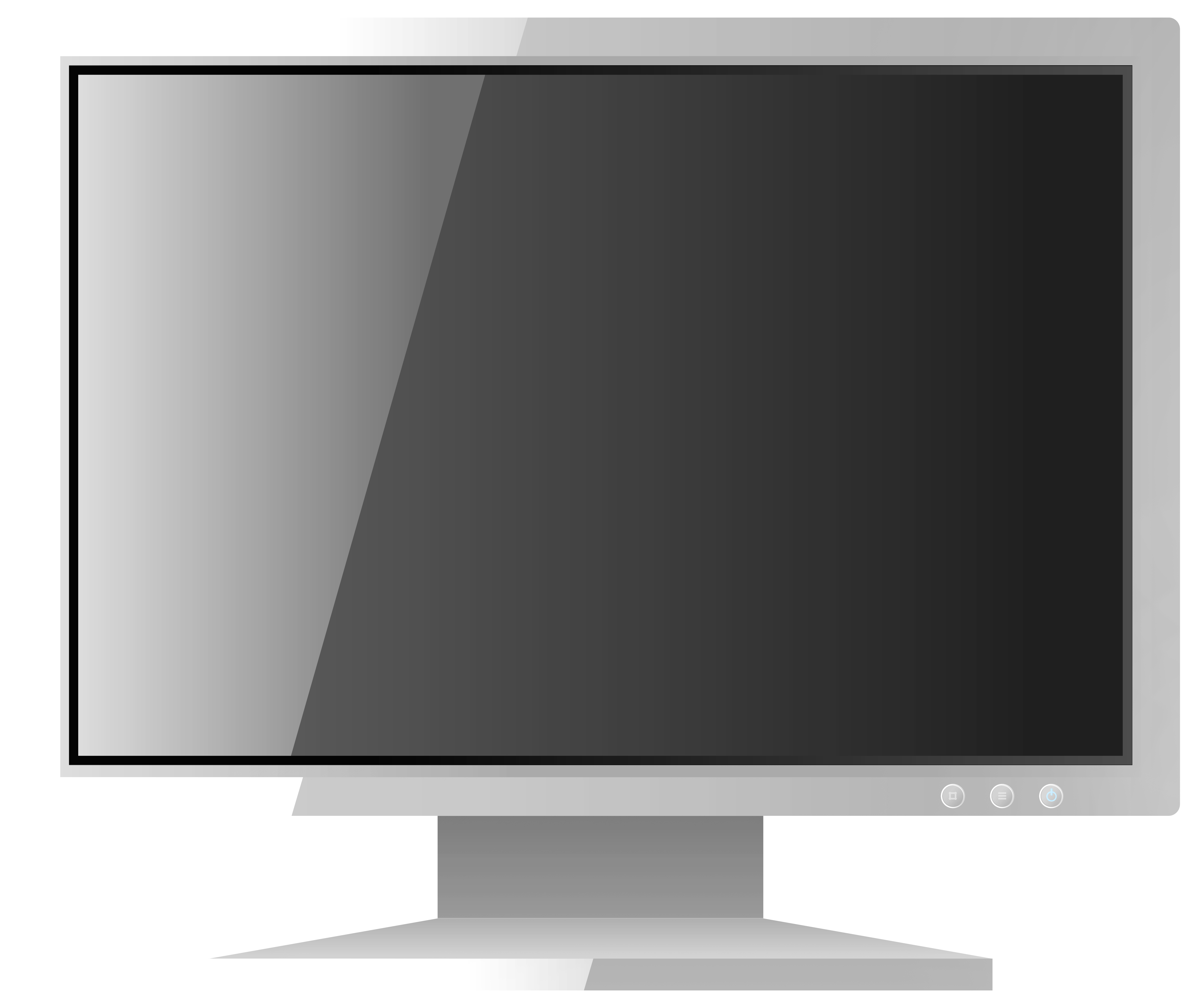 White Computer LCD Monitor PNG Clipart.