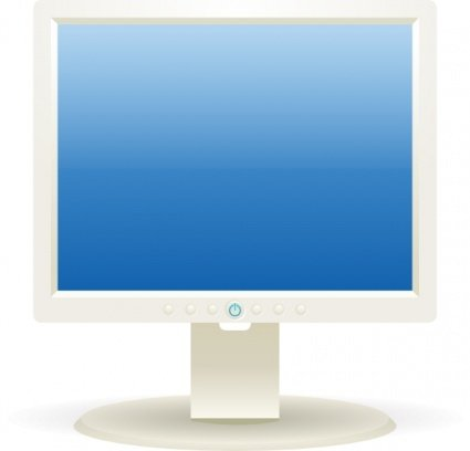 Computer Lcd Monitor Clipart Picture Free Download.