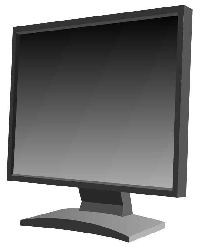 Free Clipart: LCD monitor.