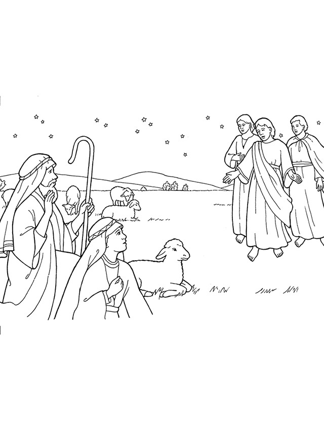 Nativity: Angels Appear to Shepherds.