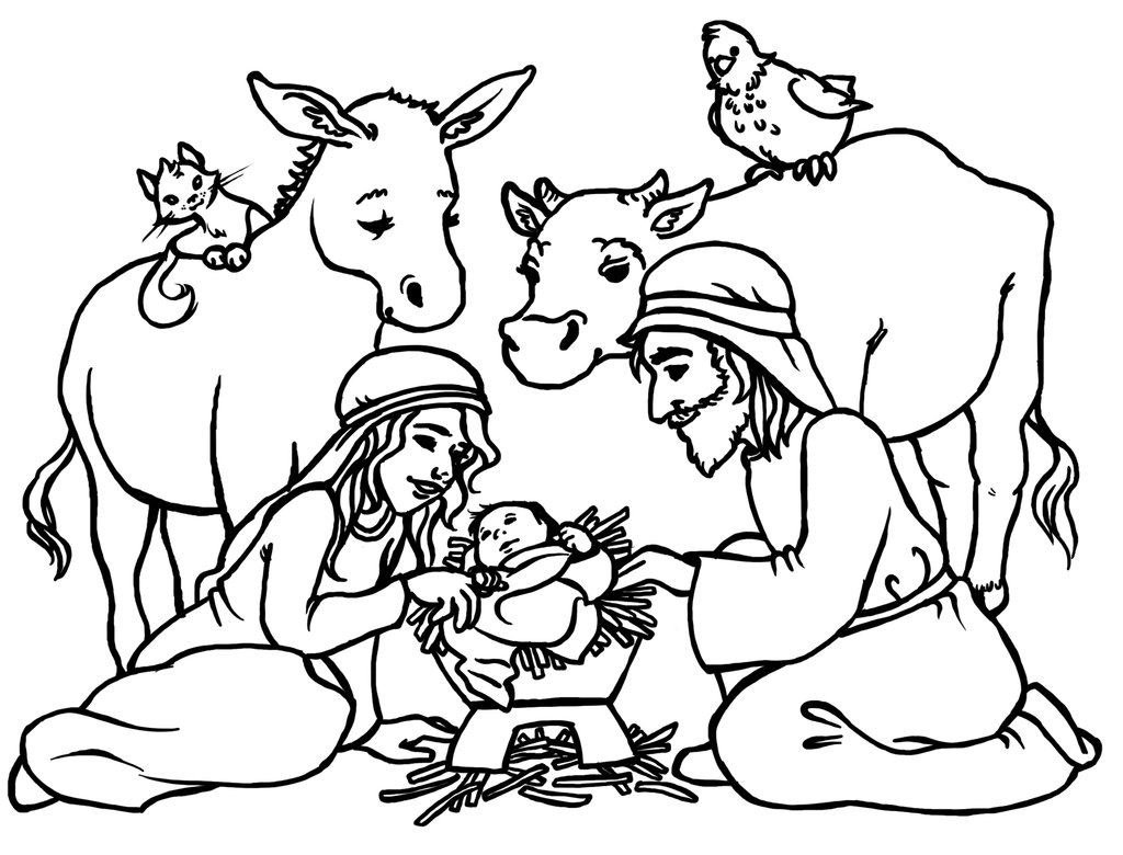 Nativity black and white lds jesus manger clipart black and.