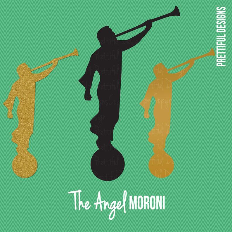 Angel Moroni LDS Mormon Clip Art.
