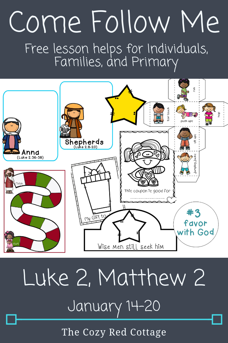 The Cozy Red Cottage: Come Follow Me: Luke 2, Matthew 2.