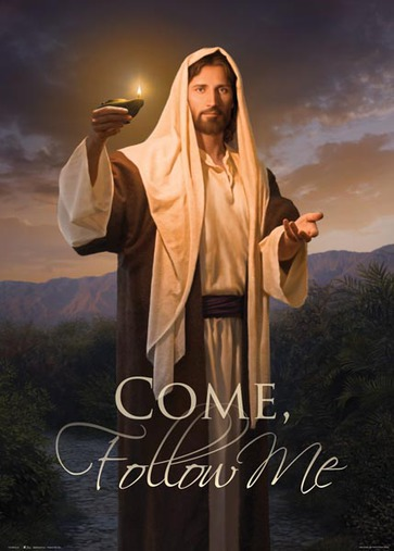 Come Follow Me Poster featuring Lead, Kindly Light in.