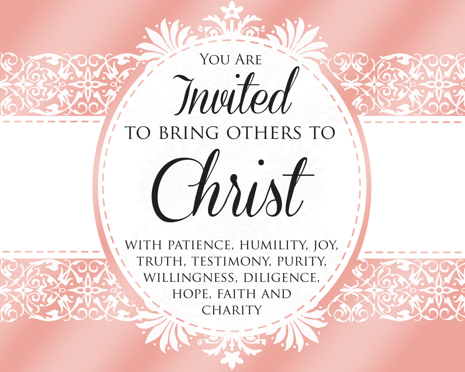How can I invite others to come unto Christ? LDS YW December Come.