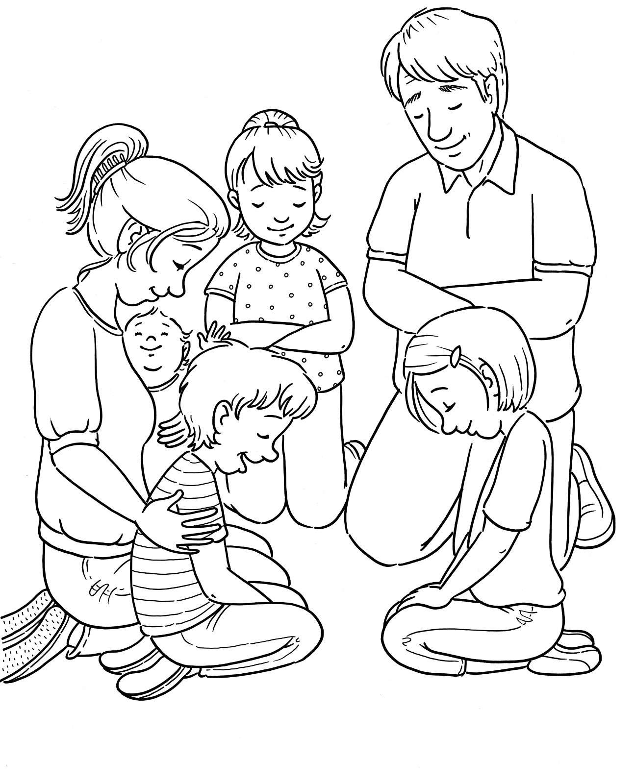 Lds Family Prayer Clipart.
