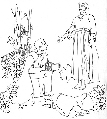 Images of LDS First Vision Coloring Page.