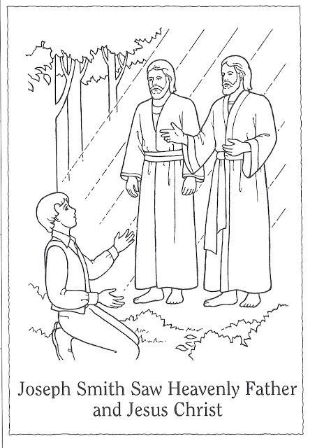 Primary 3, Lesson 5! The first vision coloring page.