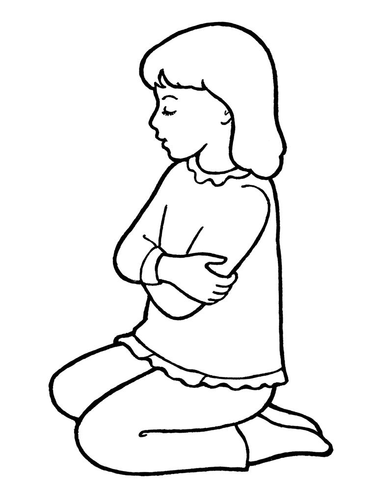 Lds Children Praying Clipart.