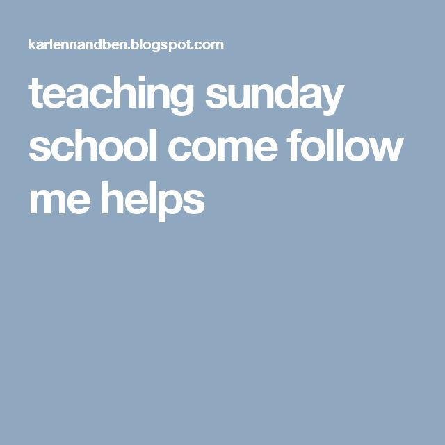 25+ best ideas about Lds Sunday School on Pinterest.
