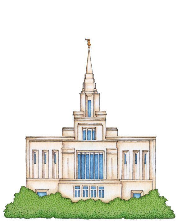 Lds temple clipart.