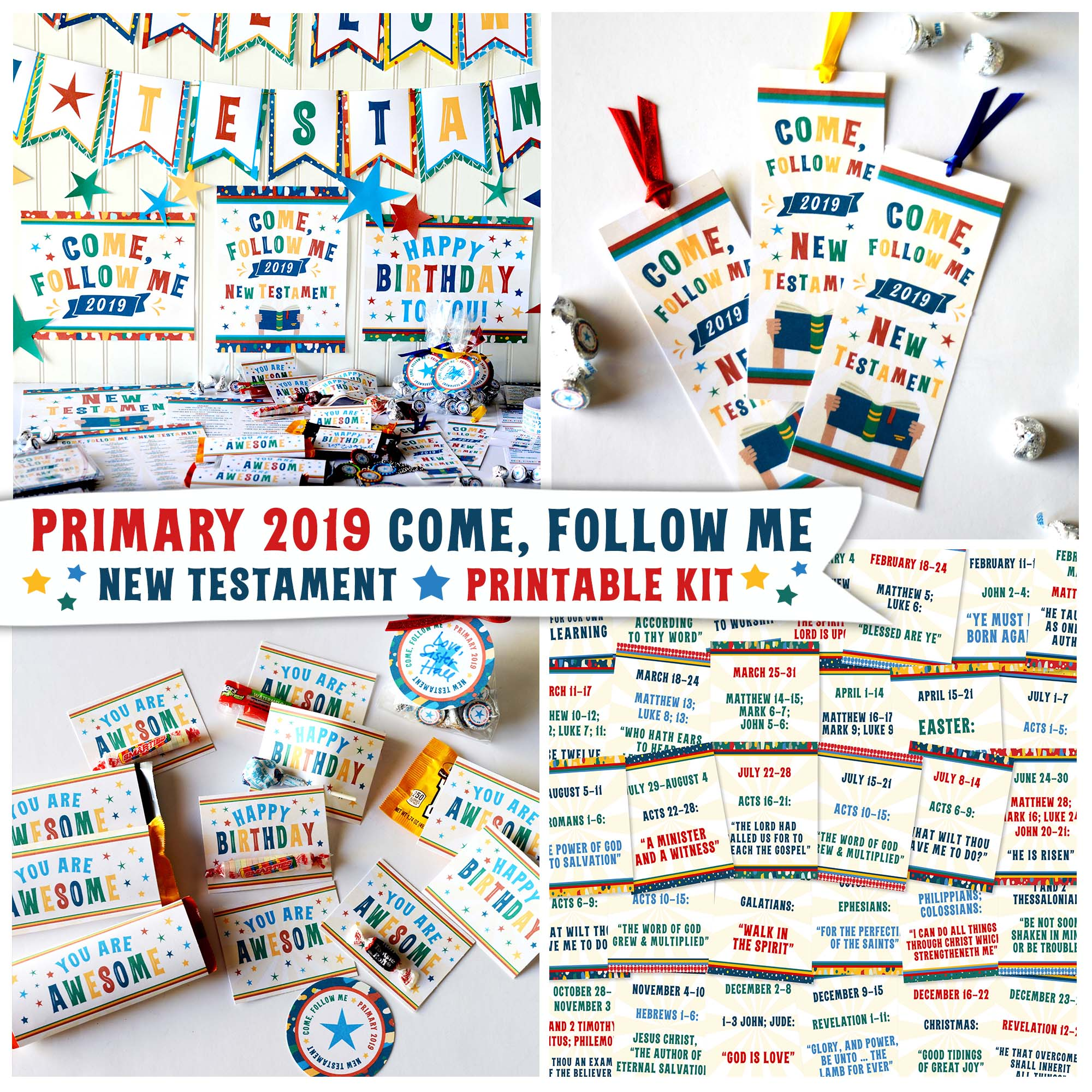 2019 Primary Come, Follow Me New Testament Printable Kit.