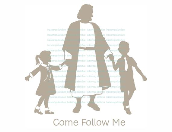 Come Follow Me LDS Clipart.