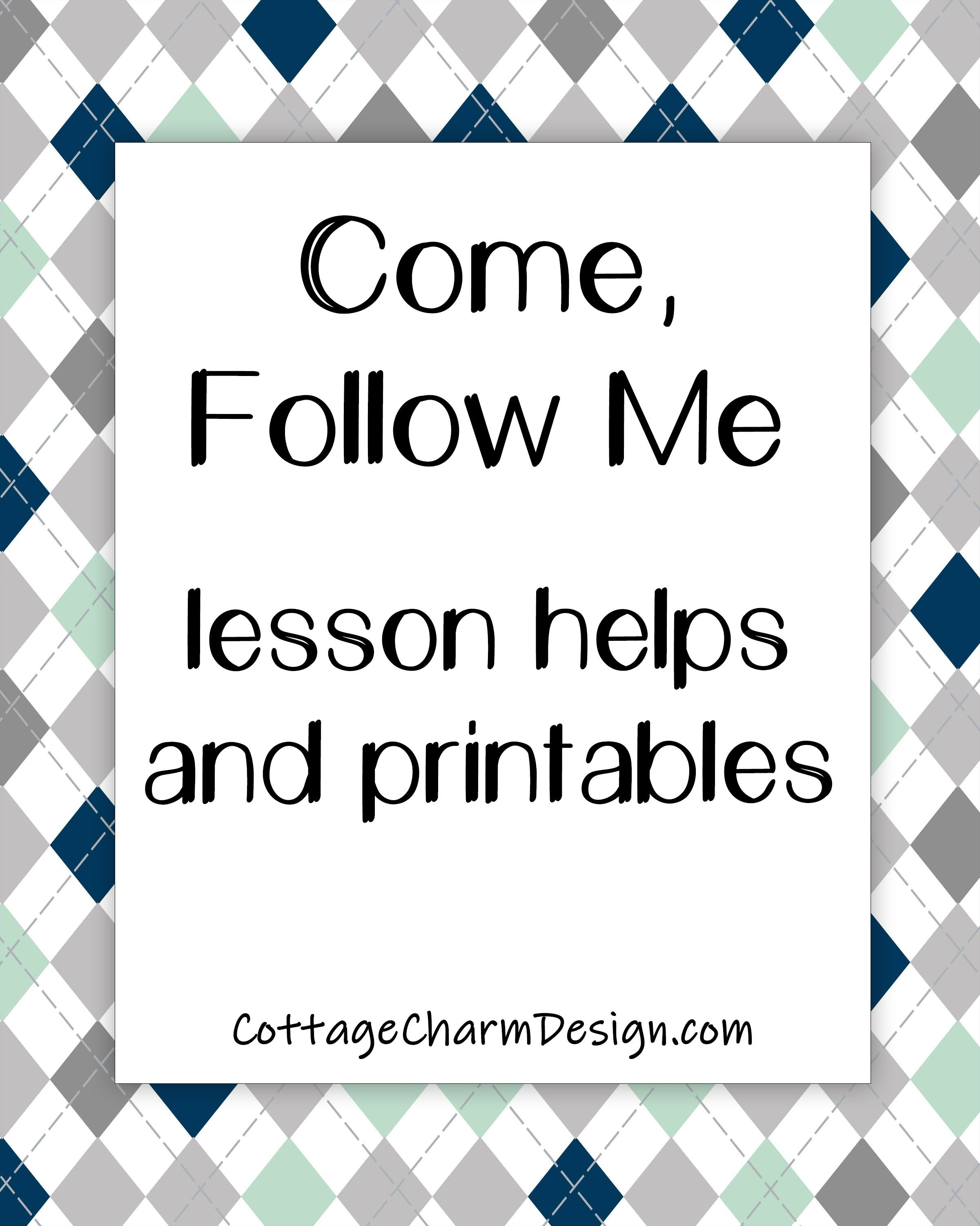 Awesome lesson helps and printable handouts.