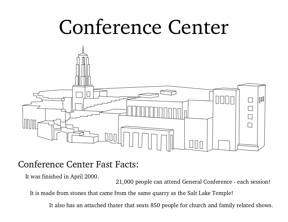 Conference Center coloring page.