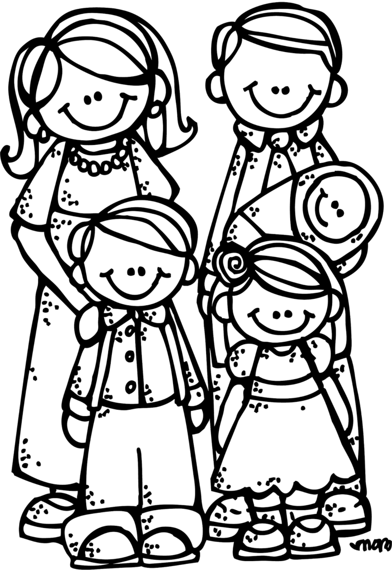 Download Free png Lds Family Clipart Black And.