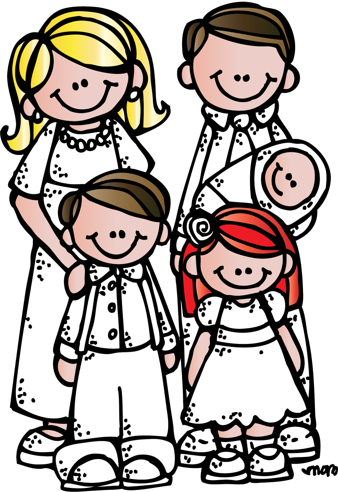 LDS Family History Clip Art.