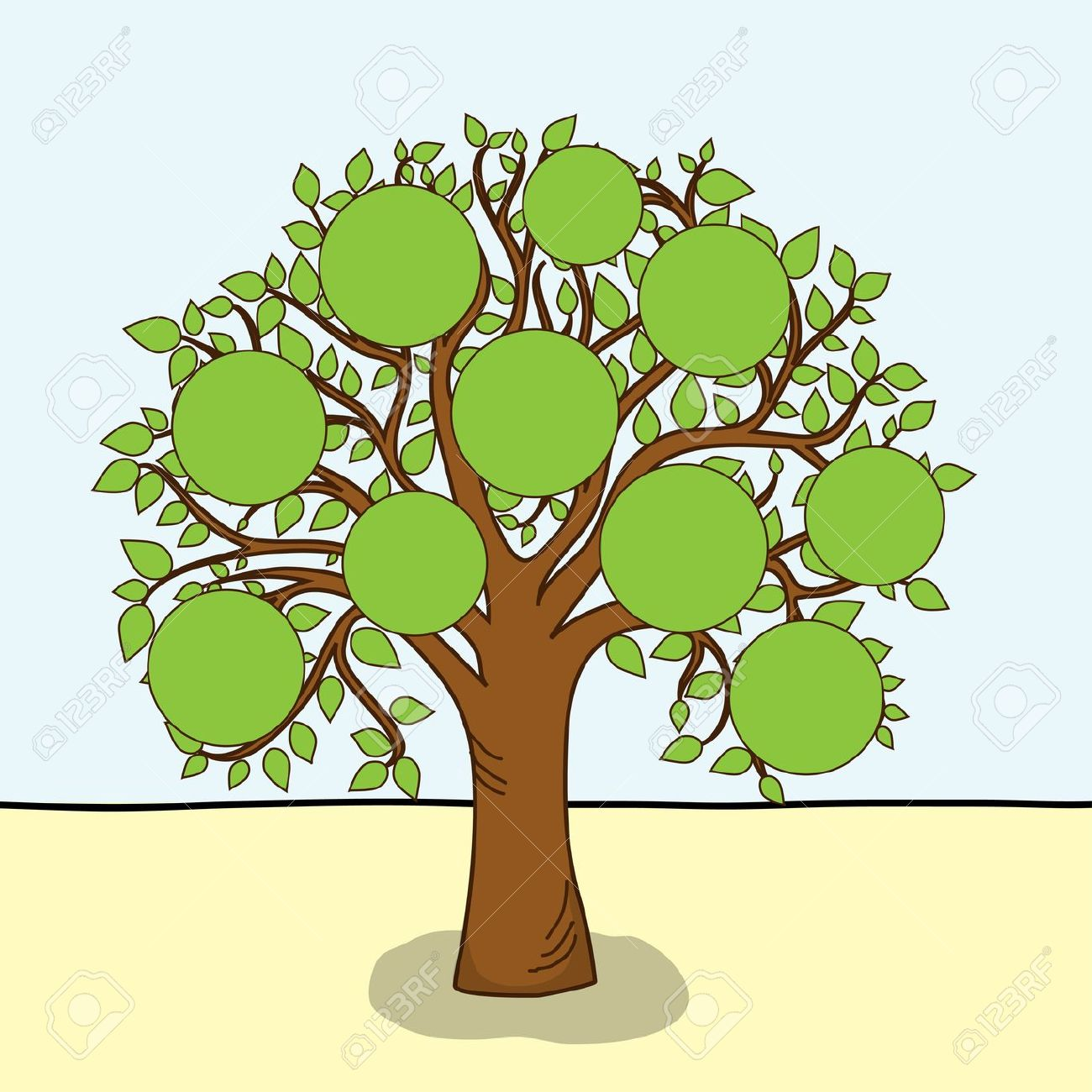 It is a photo of Dashing Family Tree Graphic