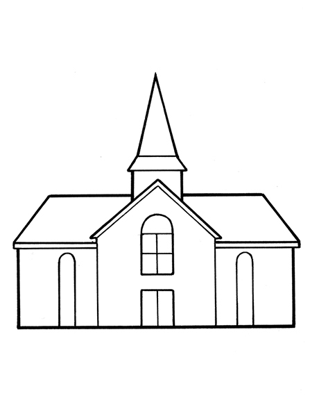Lds House Black And White Clipart.